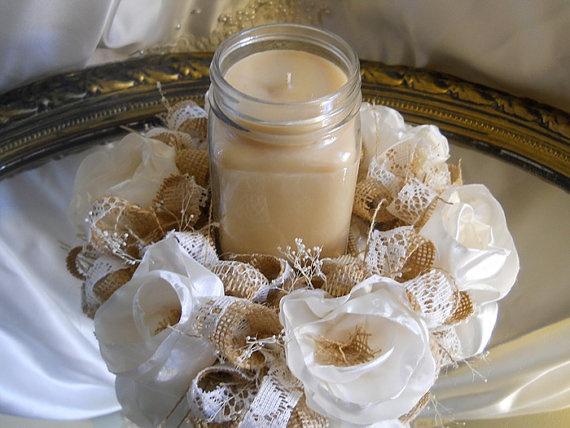 Best ideas about burlap candles on pinterest rustic