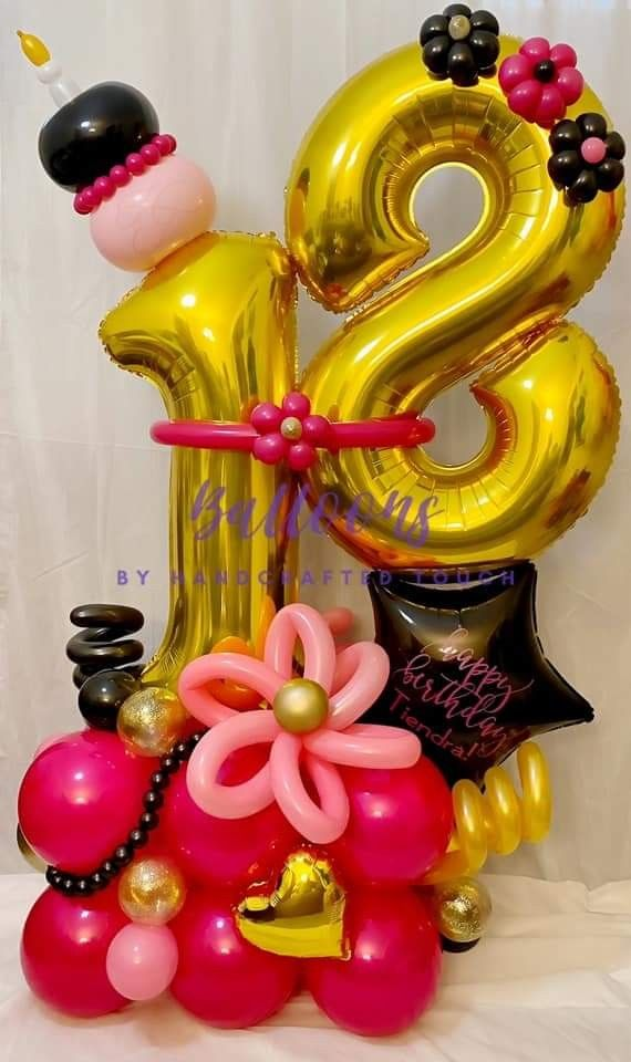 HAPPY 40TH BIRTHDAY PARTY 5 FOIL BALLOON BOUQUET CLUSTER AGE 40