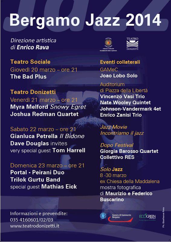 #bergamojazz 2014 @Teatro Donizetti e non solo http://www.teatrodonizetti.it/DoniEditorial/newsCategoryViewProcess.jsp?editorialID=3960