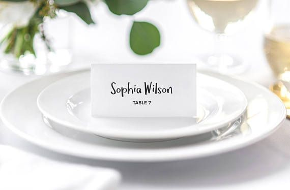Place Card Template Wedding Place Cards Seating Place Card #weddingplacecard #placecard #wedding #clasicwedding