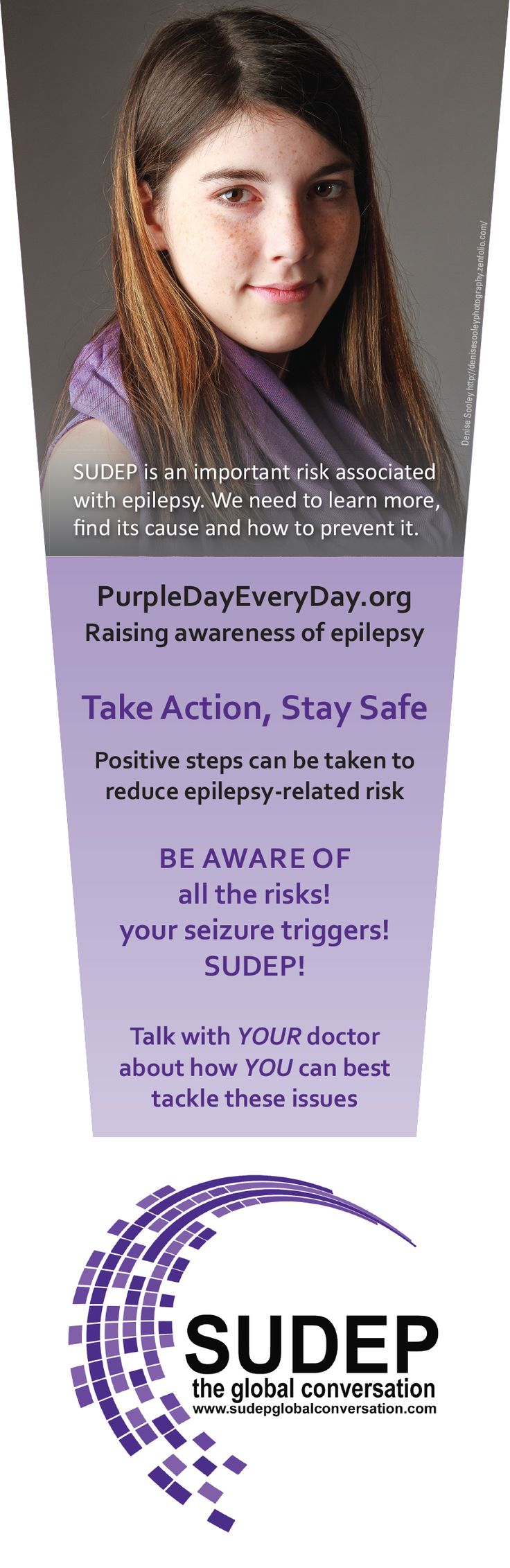 New Purple Day bookmark re risk/SUDEP
