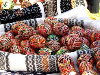 A traditional meal in Bucovina #bucovina   #easter   #decoratedeggs