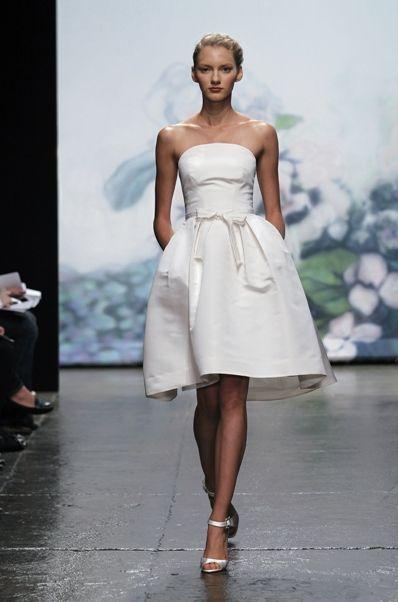 I LOVE this short chic wedding dress