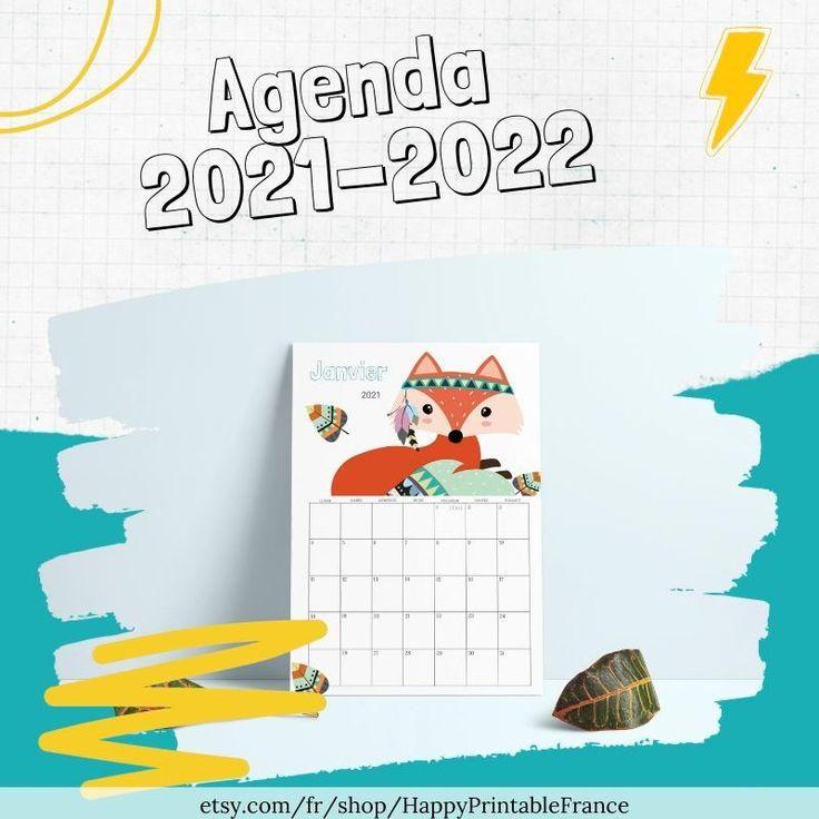 Calendrier Enfant 2022 Children's Calendar 2021 2022   Monthly Wall Calendar   PDF