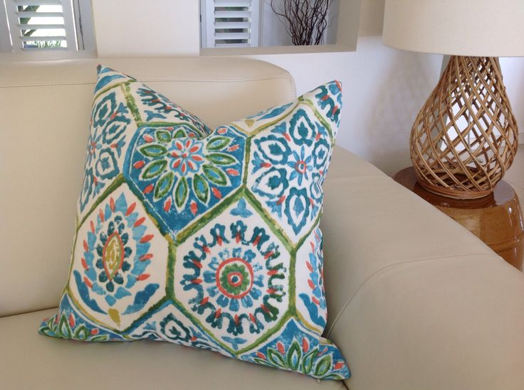 Outdoor Pillows Blue Green Moroccan Outdoor Cushion Cover Summer Breeze Indoor/Outdoor Cushion Pillow Caribbean Blue Bohemian Pillow. by MyBeachsideStyle on Etsy https://www.etsy.com/au/listing/222596387/outdoor-pillows-blue-green-moroccan