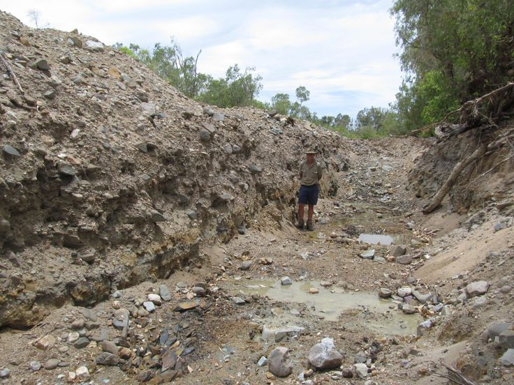 Waiitiboy goes to North Queensland Australia, for Permit evaluation. Sampling a trench for client. Vendor pictured.