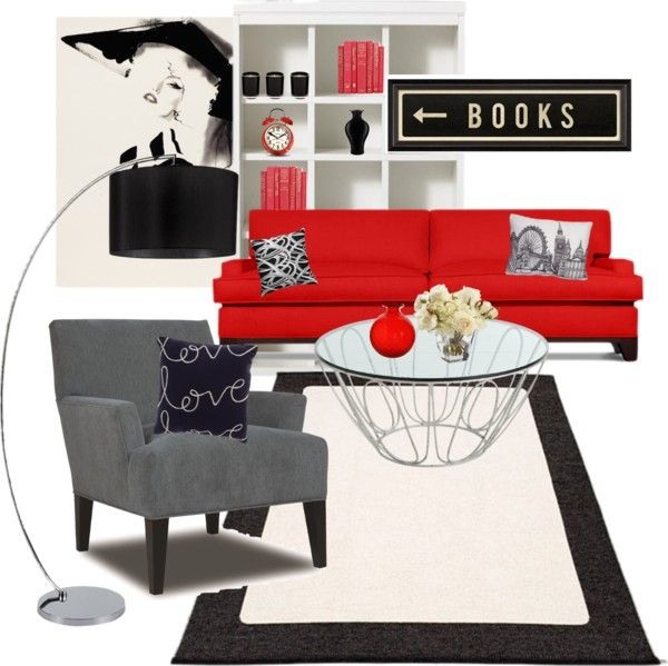 """Red living room"" by no-ordinary-face on Polyvore"