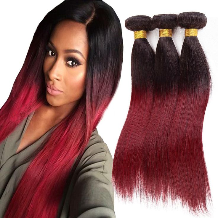Morningsilkwig Straight Hair 100% Brazilian Virgin Hair Weaves 1b/burg # Human Hair Wig Hair Extensions for Black Women 100g/pcs