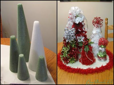 Glitter Glue and Paint: Christmas Centerpiece how to