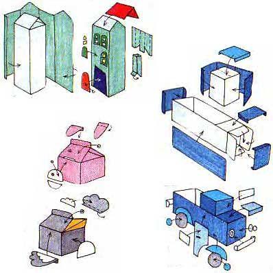 Поделки из бумажных пакетов