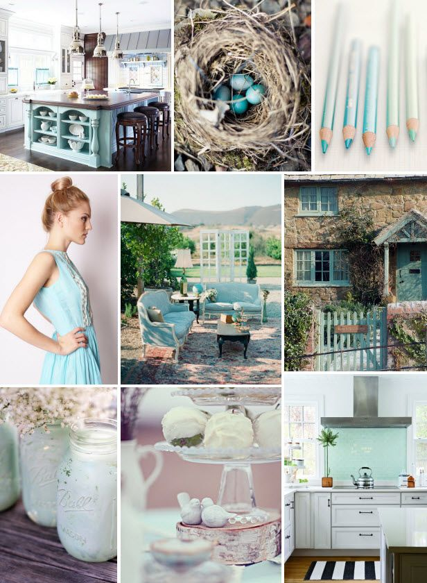 Mood Board Monday: Robin's Egg Blue (http://blog.hgtv.com/design/2014/04/14/mood-board-monday-robins-egg-blue/?soc=pinterest): Creamsicle Colors, Favorite Colors, Living Room, Accent Colors, Robins Egg, Interior Wall Colors, Studios Colors, Home Colors So, Design Blog
