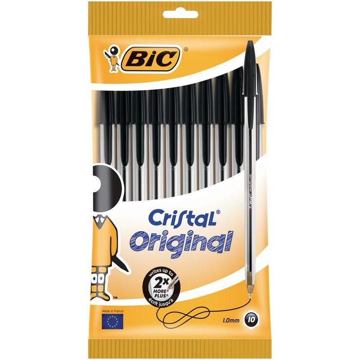 BiC Cristal Original Ballpoint Pen Black Pouch 10 | Staples®