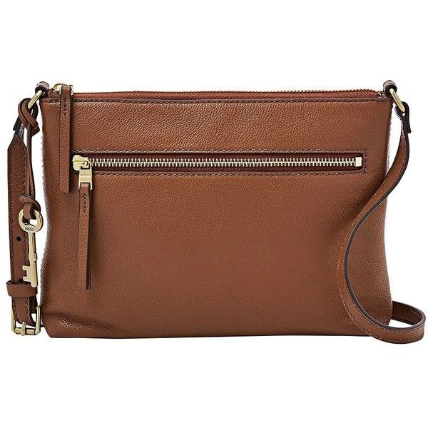 Fossil Women's Fiona EW Crossbody Bag ($98) ❤ liked on Polyvore featuring bags, handbags, shoulder bags, brown, brown crossbody, leather handbags, brown leather purse, brown shoulder bag and crossbody handbag