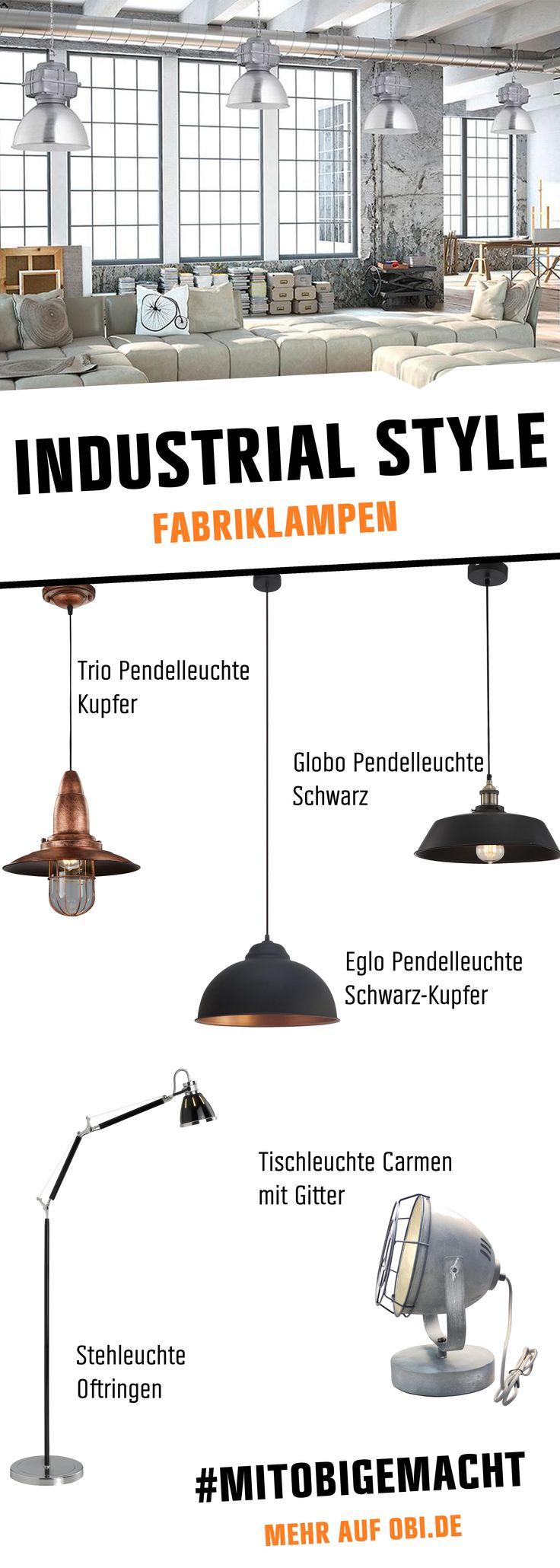 Ob Retro-Fabriklampe im Vintage-Stil der 20er Jahre oder futuristische Aluminium-Leuchte - In Blech- und Metall-Optik, als Gußelement gefertigt, gibt es Industrieleuchten in vielfältigen Designs und für ebenso viele Nutzungsformen. Lass dich von der Vielfalt der Fabriklampen inspirieren.  #lampen #fabriklampen #industrialstyle #ideen #innenbeleuchtung #inspiration #mitobigemacht #deko #wohnzimmer #selbstgemacht
