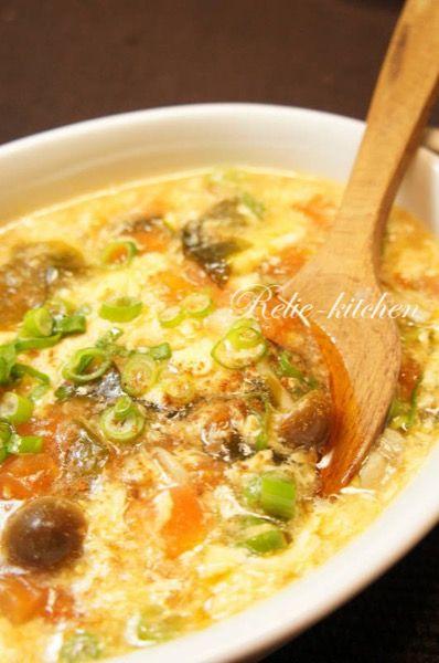 トマトとわかめのふんわり卵の中華スープ by 近藤小百合 | レシピ ...