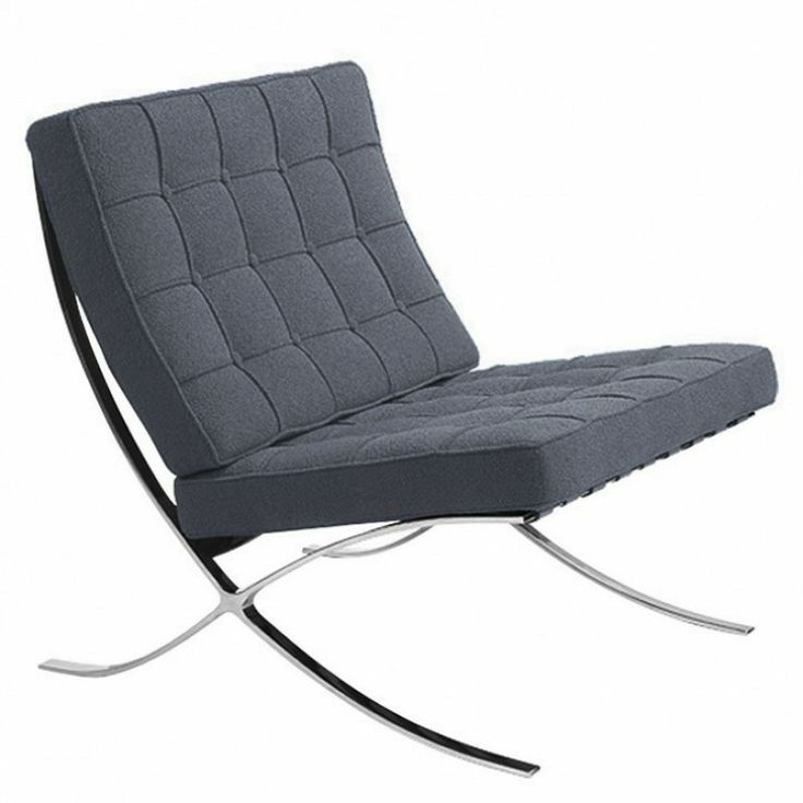 High Quality Grey Wool Barcelona Chair With Stainless Steel Frame. Best  Quality And Price Ratio. Find This Pin And More On Funky Contemporary Chairs  ...
