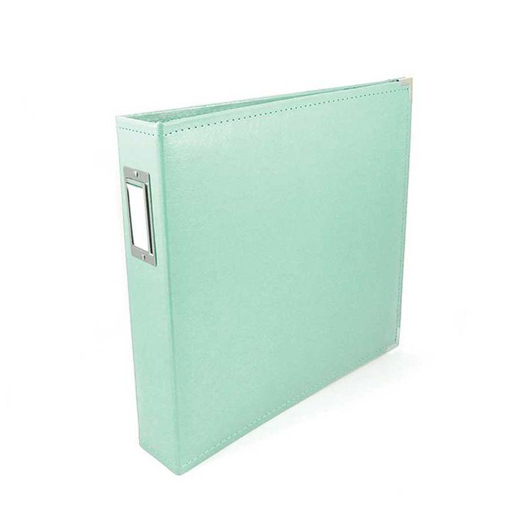 Classic Leather - Album à 3 anneaux 30 x 30 cm - mint