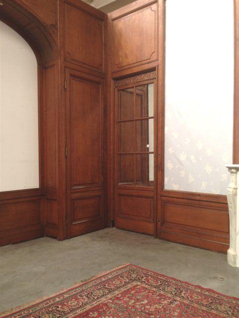 Belle et Rare Boiserie ancienne en chêne de style Louis XV avec cheminée marbre, très belle qualité et bon état général  nous contacter pour vos projets nordantique@wanadoo.fr