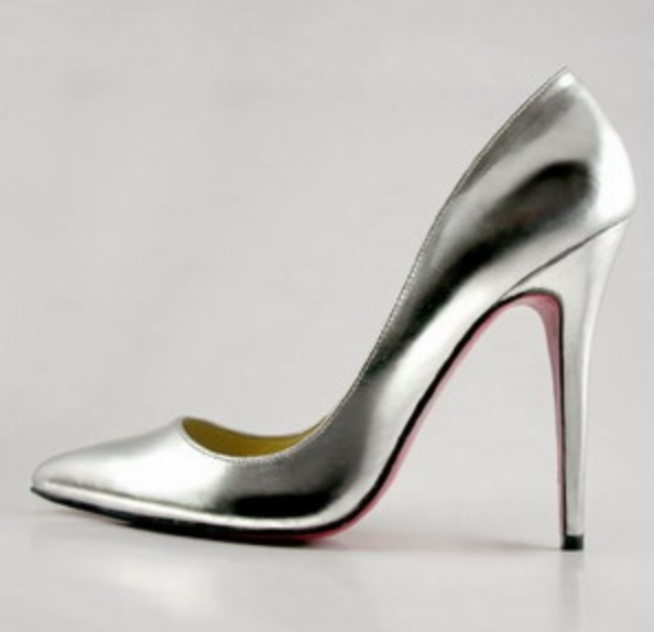 Christian Louboutin Metallic Silver Pigalle Shoes