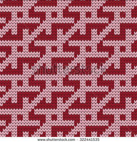knitted geometric seamless pattern