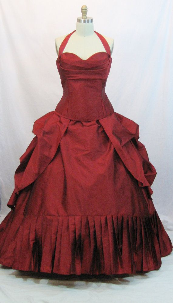 Lady in red! Etsy listing at https://www.etsy.com/listing/169850552/red-wedding-gown-alternative-wedding