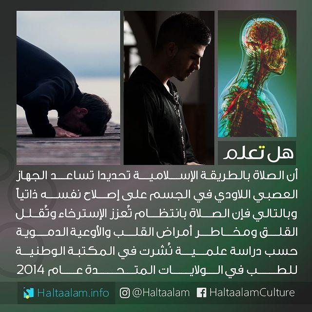 هل تعلم On Instagram الصلاة بالطريقة الإسلامية تحديدا تساعد الجهاز العصبي اللاودي على إصلاح نفسه ذاتيا وبا Wisdom Quotes Life Cool Words Islamic Phrases