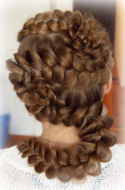 Hairdo, style, long hair.
