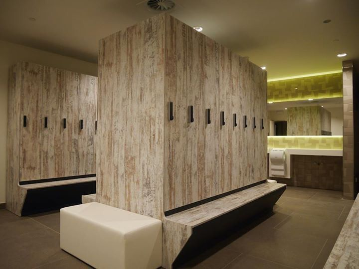 Gym, lockers, locker room, gym lockers , spa . ATEPAA lockers for PNB employees in Luxembourg headquarter.