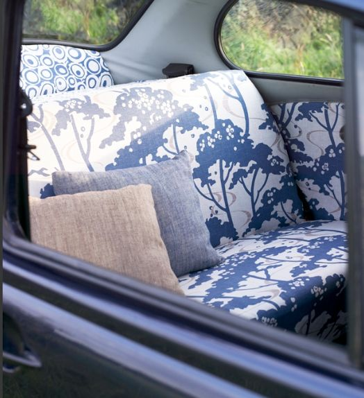 rePurpose car upholstery... who says you have to have standard issue?!?!