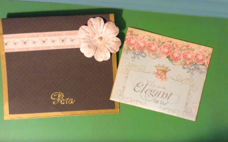 Aprender a hacer tarjetas para bodas con scrapbook #scrap #conideade #manualidades #boda