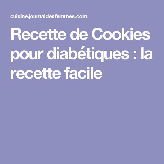 Recette de Cookies pour diabétiques : la recette facile