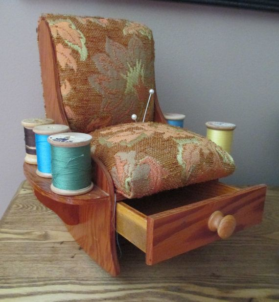 Vintage Handmade Pin Cushion Rocking Chair  Old by AStringorTwo, $18.00