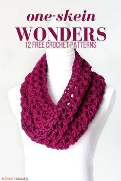 One-Skein Wonders: 12 Padrões De Crochê Gratuitos