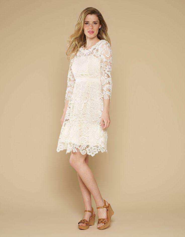 Lace Dress Cream Monsoon