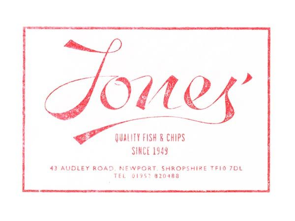 Jones' Fish & Chips - Brand Identity Design by Andreas Neophytou