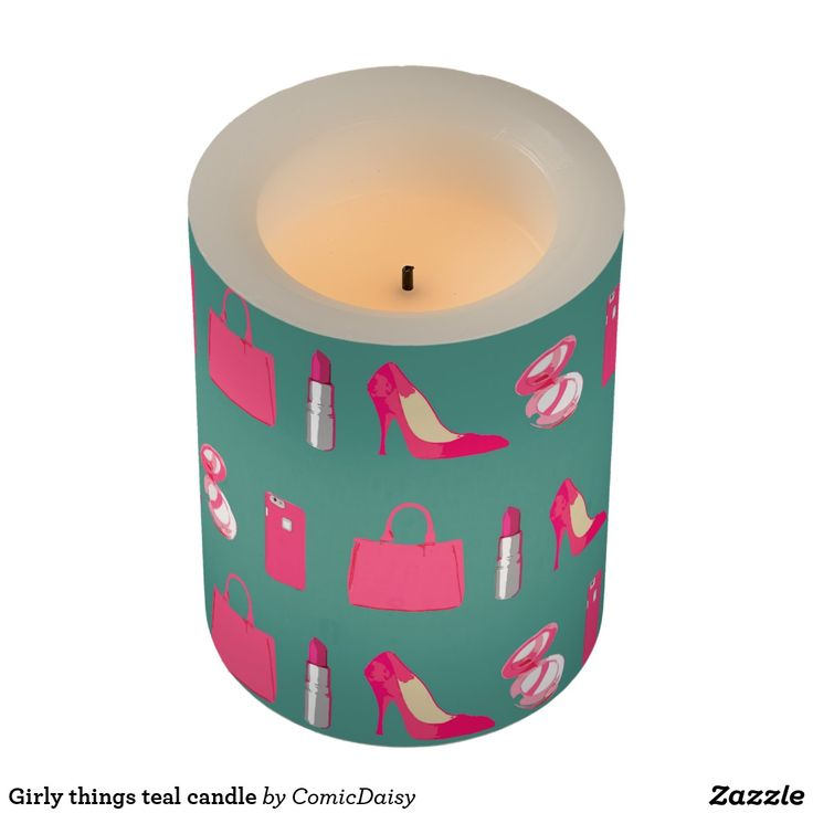 Girly things teal candle