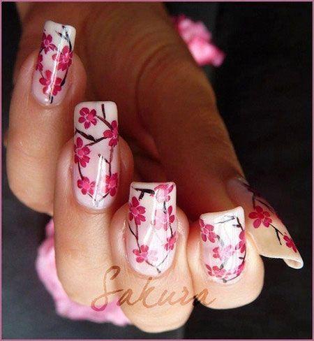 Spring Flower Nail Art Designs, Ideas & Trends 2014