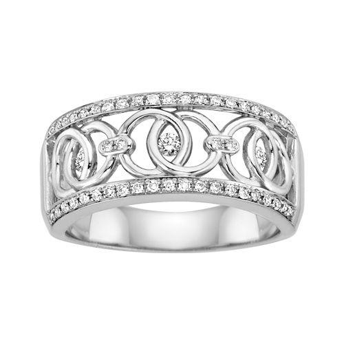 Stunning Fred Meyer Jewelers ct tw Diamond One Love Ring