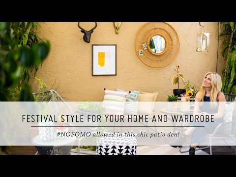 Festival Style Patio Makeover & Bathing Suit Looks | #NOFOMO | DIY Home Decor and Style | Mr Kate - YouTube