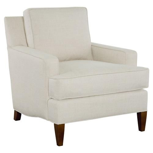 Cr Laine Atticus Modern Classic Beige Upholstered Fruitwood Frame