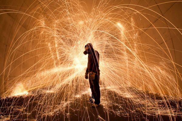 collection d'images de light painting
