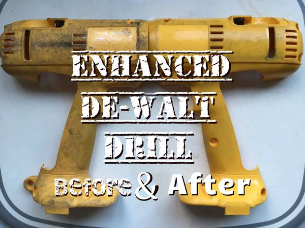 Picture of Enhanced DeWalt Drill Before And After