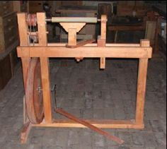 Make your own Treadle Lathe    http://www.manytracks.com/lathe/lathe.pdf