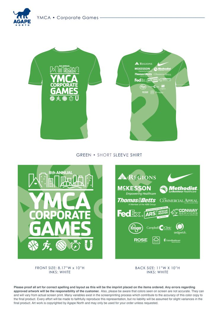 Agape North: Custom Apparel that Gives Back. #ymca #corporategames
