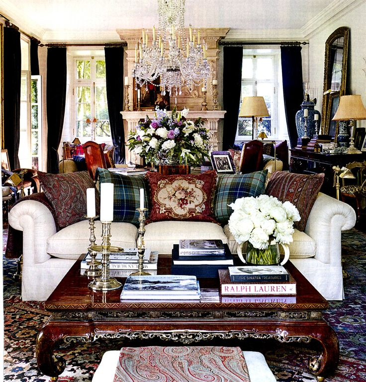 4874 best interiors images on pinterest for Ralph lauren living room designs