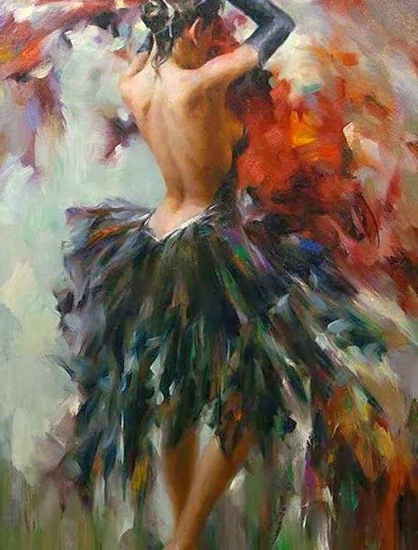 Stephen Pan Girl In A Feather Dress ⊹ Back ⊹ Art