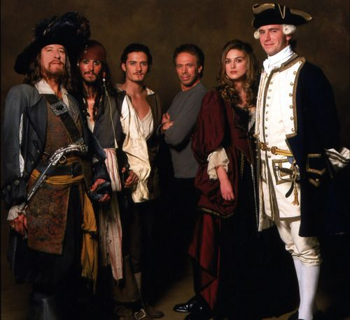 Cast (and Jerry) of Curse of the Black Pearl (I would like to point out how much taller Jack Davenport looks compared to everyone else...and they're all fairly tall)