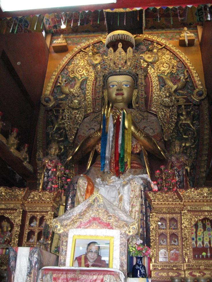 Buddha in this world at Bodinath, Katmandu with portrait of the Dalai Lama. www.jeffreyrasley.comMi Style, Favorite Places, Dalai Lama, Nepal Himalayas