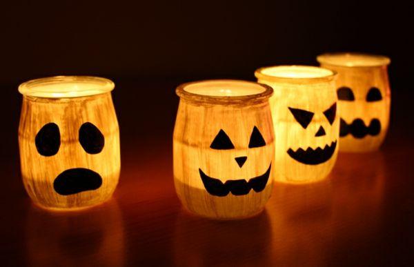 photophore Halloween fantomes en pots