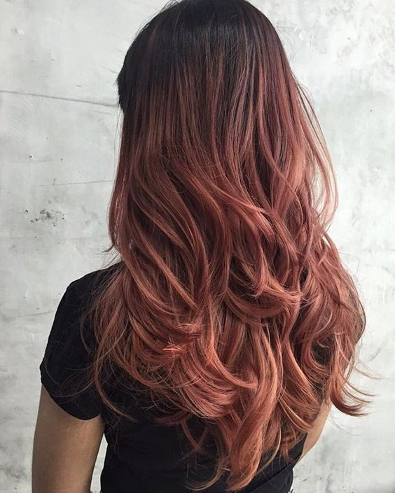 Coloration tendance: rose gold hair © Pinterest Gabrielle Tanguay